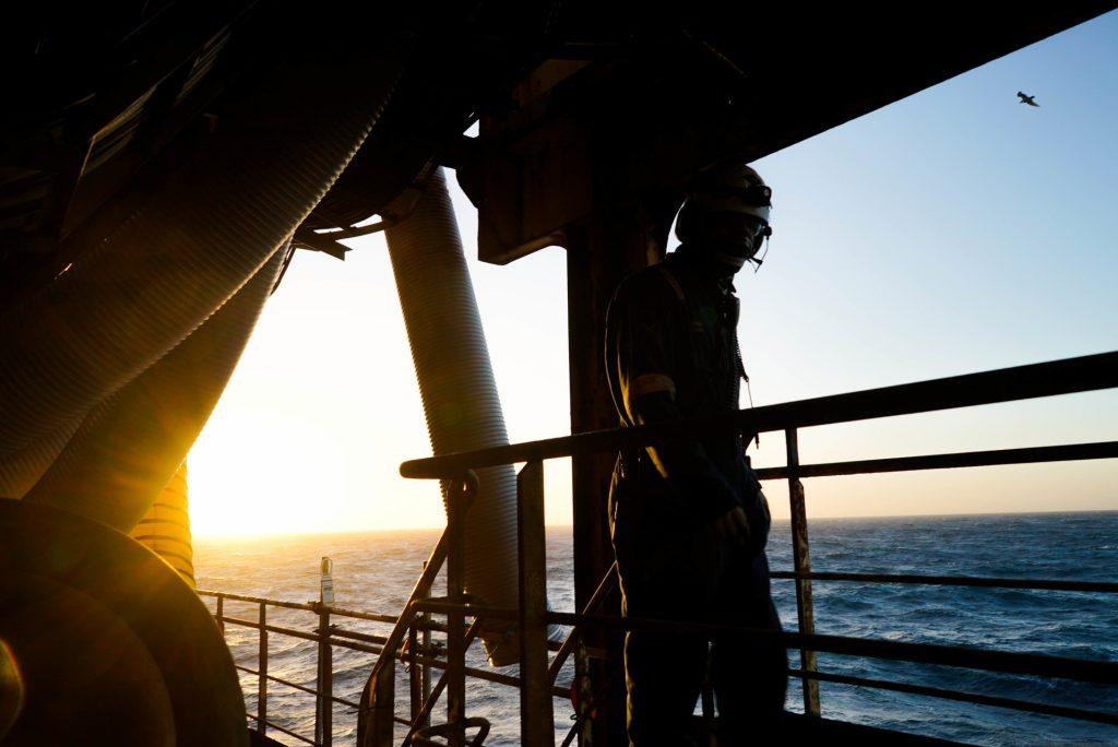 Sun rise offshore