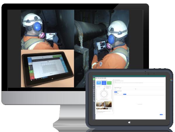 Asset Risk desktop and tablet image