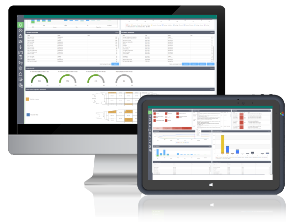 Asset dashboard desktop and tablet graphic image